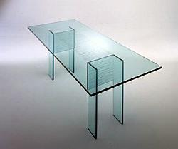 tavolo in cristallo