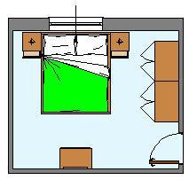 Come disporre la camera for Camera letto 3x4