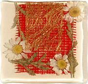 resina fiori e tessuti