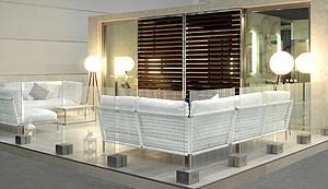 La suite dell'imperatore_living by Matteo Nunziati vetri OmniDecor