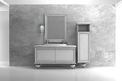 mobili da bagno particolari il modello icaro caratterizzato da forme arrotondate e da