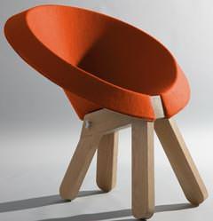 Materiali nuovi per sedute: Zaza Chair di Omri Bar Zeev