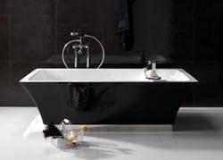 Regia: vasca Vintage bicolor bianco-nero