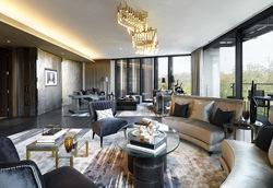 Uno dei saloni dei flat di One Hyde Park