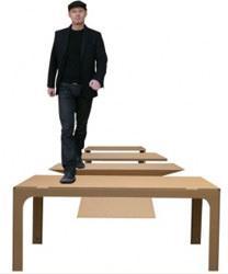 Tavoli in cartone di Giacomucci Design