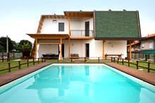Casa Passiva di BLM Domus - vista dalla piscina