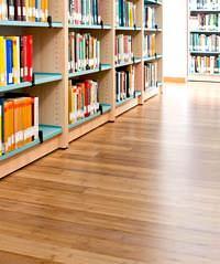 Pavimentazione in Bamboo di Maccani: Biblioteca del centro Universitario di Povo
