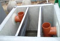 Degrassatore statico Gazebo: vista in fase di installazione