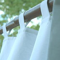 Tende per la doccia in lino - Tende per doccia in tessuto ...