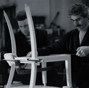 Produzione sedia in legno Potocco