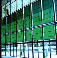 Tende Solaris per la Nuova Sede de IL Sole 24Ore: vista di un interno