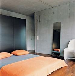 Camera da letto in cemento