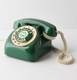 vintage rotary phone green