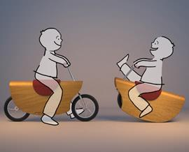 Amir Zobel, Cavallo / bicicletta