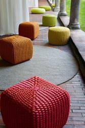 pouf, serie Tricot, Paola Lenti