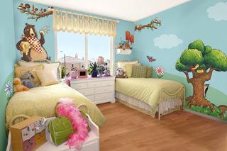 Decorare le pareti della cameretta dei bambini - Muri camerette bambini ...