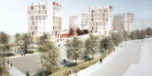 quartiere in legno, social housing Milano