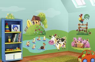 Decorare le pareti della cameretta dei bambini - Murales cameretta bimbi ...