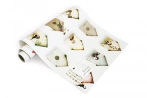 carta da parati birdhouse, studio ditte