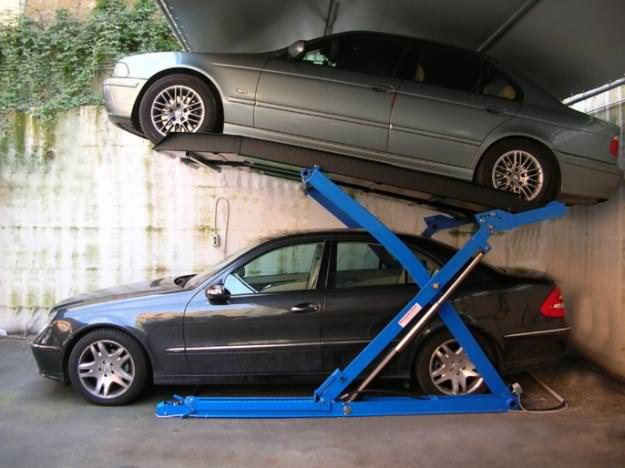 Sollevatore auto per box for 2 officine di garage per auto