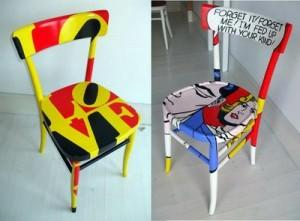 Silvia Zacchello, chaise pop art