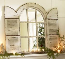 Pottery Barn, specchio con persiane