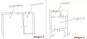 Trasformare il cucinino: disegno 2-3
