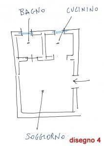 Trasformare il cucinino: disegno 4