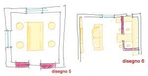 Trasformare il cucinino: disegno 5-6