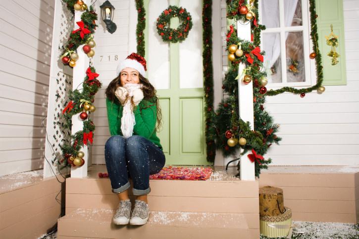 Addobbi per porta natalizi decorare la tua casa - Ghirlande per porte natalizie ...