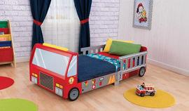 KidKraft, Fire Truck Toddler Bed