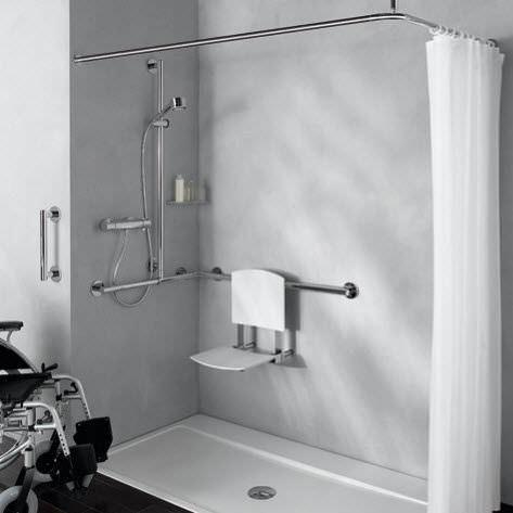 Il sedile amovibile per doccia Plan Care di Keuco è una soluzione che ...