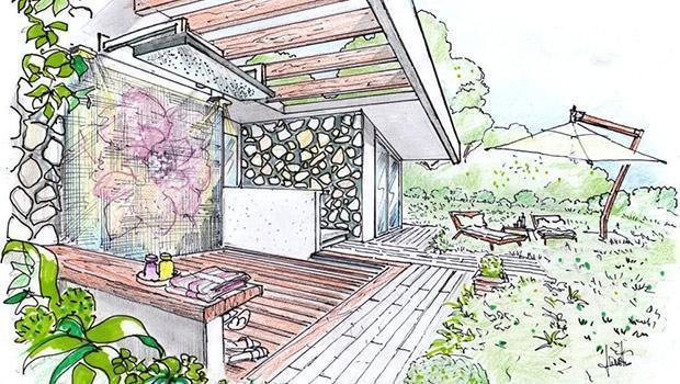 Progetto arredamento e d 39 interni realizzato a mano libera for Esempi di disegni di planimetrie della casa