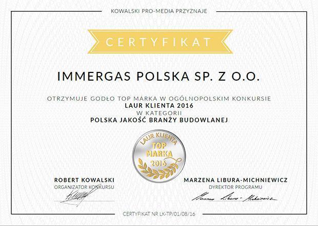 Certificato IMMERGAS