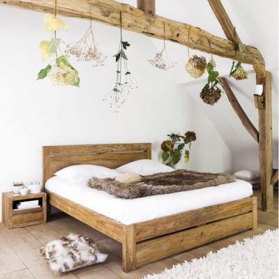 Camera da letto Maisons du Monde con letto in legno massello di sheesham
