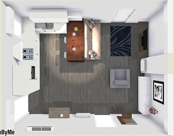 Come illumino la cucina-soggiorno?