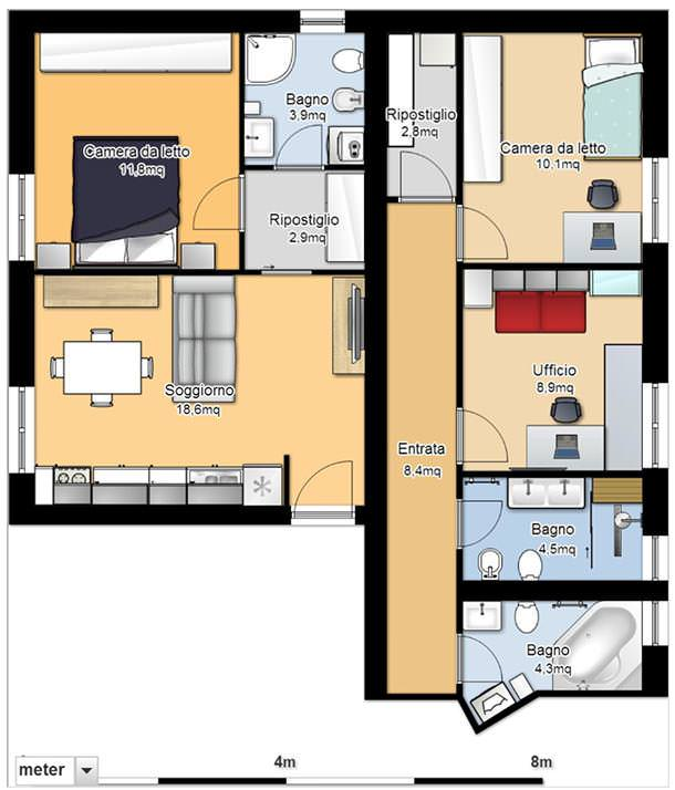 Idee per divisione appartamento - Idee per ristrutturare un appartamento ...