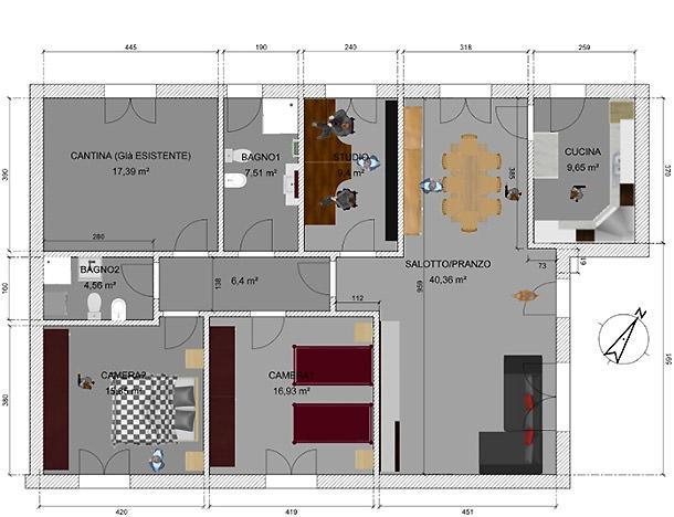 Parere disposizione stanze ristrutturazione - Disposizione stanze casa ...