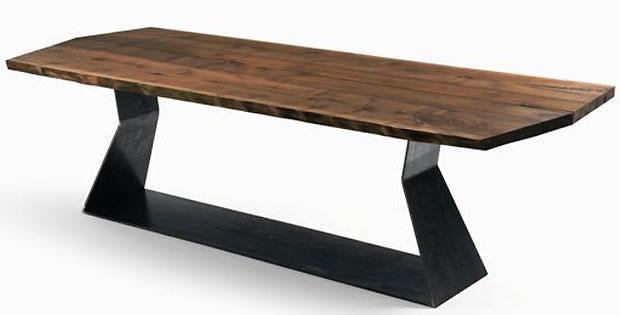 Tavolo in legno massello for Tavolo richiudibile in legno