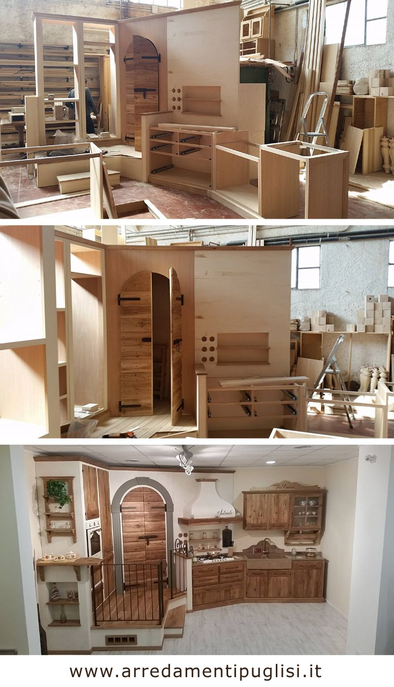 Cucina in muratura su misura - Cucinini in muratura ...