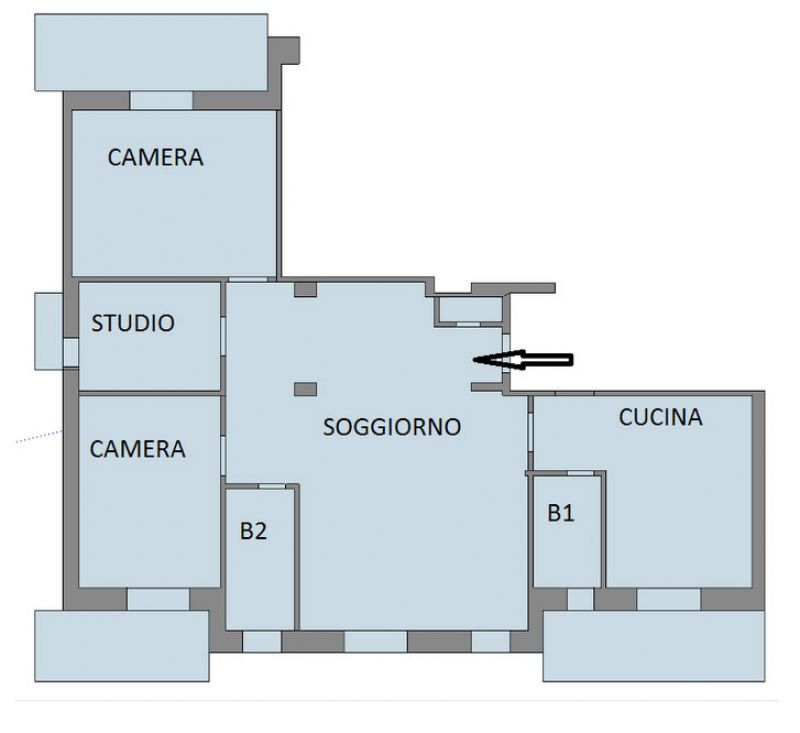 Due appartamenti uniti ma con impianti idrici separati - Lavorincasa forum ...