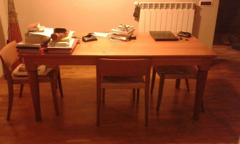 Restauro tavolo ciliegio