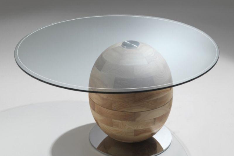 Tavolo in legno protezione rigida trasparente 1