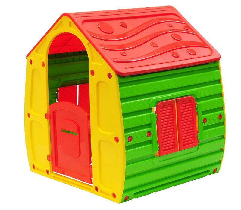 Casetta in Resina Plastica per Bambini da Giardino Esterno Giocattolo Bimbi PVC 1