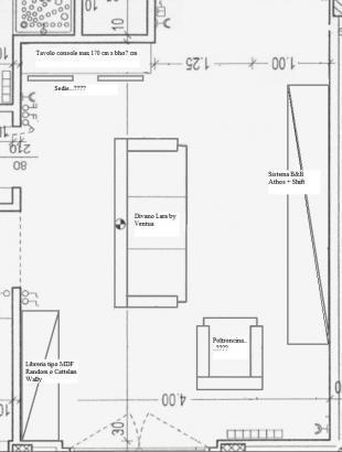 Forum progettazione discussione su disposizione mobili for Disposizione soggiorno