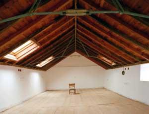 Mansarda: Tetto con struttura in legno