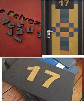 Una porta personale:esempi di lavorazioni sul pannello in mdf