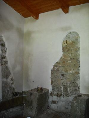 Il recupero di un vecchio mulino da adibirsi ad uso abitativo:Il consolidamento della muratura incoerente