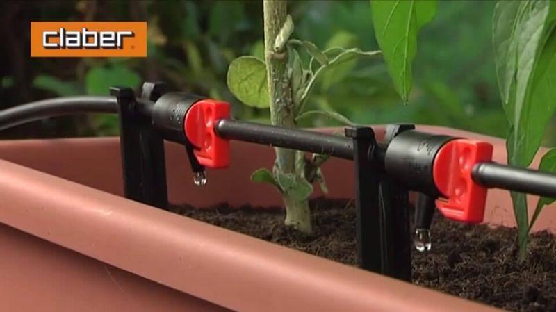 Sistema di irrigazione a goccia in vaso di Claber