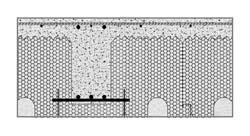 Un sistema solaio completo: schema della sezione armata